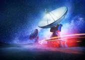 Deep Space Radio Telescope — Stock Photo