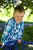 Portrait of boy of five years outdoor — Stock Photo