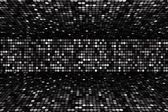 Black and white dots stage background, perspective — Stock Photo