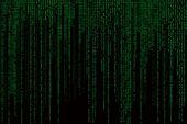 Matrix background with the green symbols, motion blur — Stock Photo