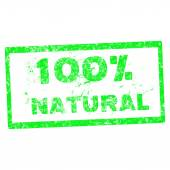 Abstract grunge office stamp with the text 100 per cent natural — Stockvector