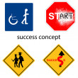 Creative design success concept from universal signs vector — Stockvector  #57843057