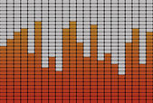 Equalizer orange signal — Stock Photo