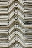The stack of gypsum board preparing for construction, background — Stock Photo