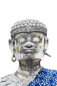 Giant statue in Thai style isolate white background — 图库照片
