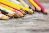 Carbon crayon pencils, shallow depth of field. — Stock Photo