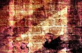 Old grunge wall texture with vignette — Stock Photo
