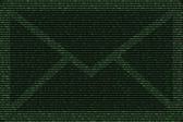 Green mail abstract with the background of binary code — Stock Photo