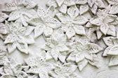 白色灰泥,墙上的泰式风格 — 图库照片