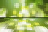 Abstract green mosaic background with perspective — Stock Photo