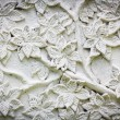 White stucco with flower texture — Stock Photo #61832451