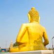 Back of big golden buddha statue in thai temple — Stock Photo #62029133