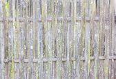 Staré grungy thajské řemeslníci bambus tkát vzor plotu — Stock fotografie