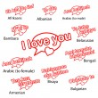 Word i love you in different languages, love concept — Stock Vector #62346449
