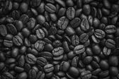 Closeup dried coffee bean background, black and white — Stock Photo