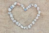 Heart made of stones  — Stock Photo