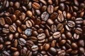 Closeup dried coffee bean background — Stock Photo