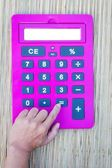 Pink calculator — Stock Photo