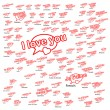 Word i love you in different languages, love concept — Stock Vector #62840085