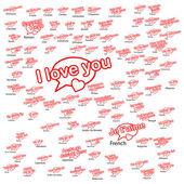 Palabra te amo en diferentes idiomas