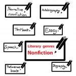Постер, плакат: Vector icon of literary genres nonfiction book