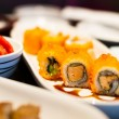 Sushi roll healthy food - japanese food style — Stock Photo #64269319