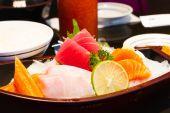 Sashimi raw fish — Stock Photo