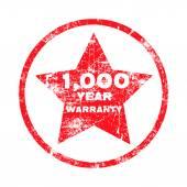 1000ywarranty — Stock Vector