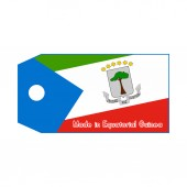 Equatorial Guinea flag on price tag with word Made in Equatorial — Stock vektor