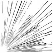 Illustration vector abstract speed motion black lines from the c — Stock Vector