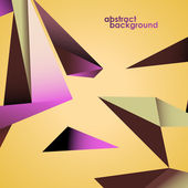 Abstract background, polygonal shapes. Vector illustration — Stockvektor