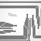Circuit board cpu. Vector illustration — Vetorial Stock