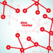 Beautiful structure of the DNA molecule, vector background — 图库矢量图片