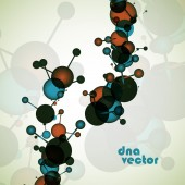 DNA vector. Abstract background — Stock Vector