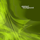 Abstract background in the form lines green with a glow. Vector illustration — Stock Vector