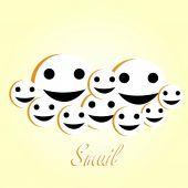 Smile emoticon. Vector illustration — 图库矢量图片