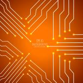 Circuit board cpu. Abstract background. Vector illustration — Stock Vector