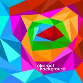 Abstract 3D geometric colorful background from triangles. Vector illustration. Eps 10 — Stock vektor