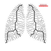 Human lung. Circuit board. Vector illustration. Eps 10 — Stock Vector