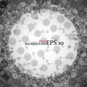 Molecule DNA. Abstract background. Vector illustration. Eps10 — Stock Vector