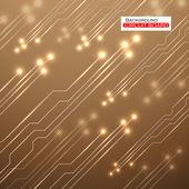 Circuit Board. Vector illustration. Eps 10 — Stock Vector