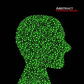 Abstract human head. Vector illustration. Eps 10 — Stock Vector