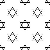 Star of David seamless pattern, vector background. Eps 10 — Stock Vector