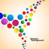 Colorful abstract background from  circles. Vector illustration. Eps 10 — Stock Vector