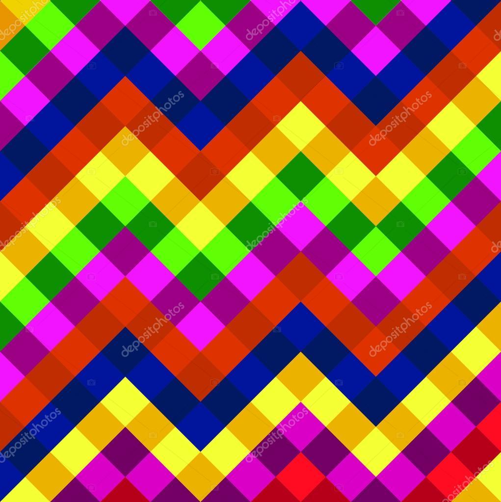 彩色几何抽象背景与正方形.矢量图.eps