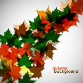 Autumn background of maple leaves. Colofrul vector image. Eps 10 — Stock Vector