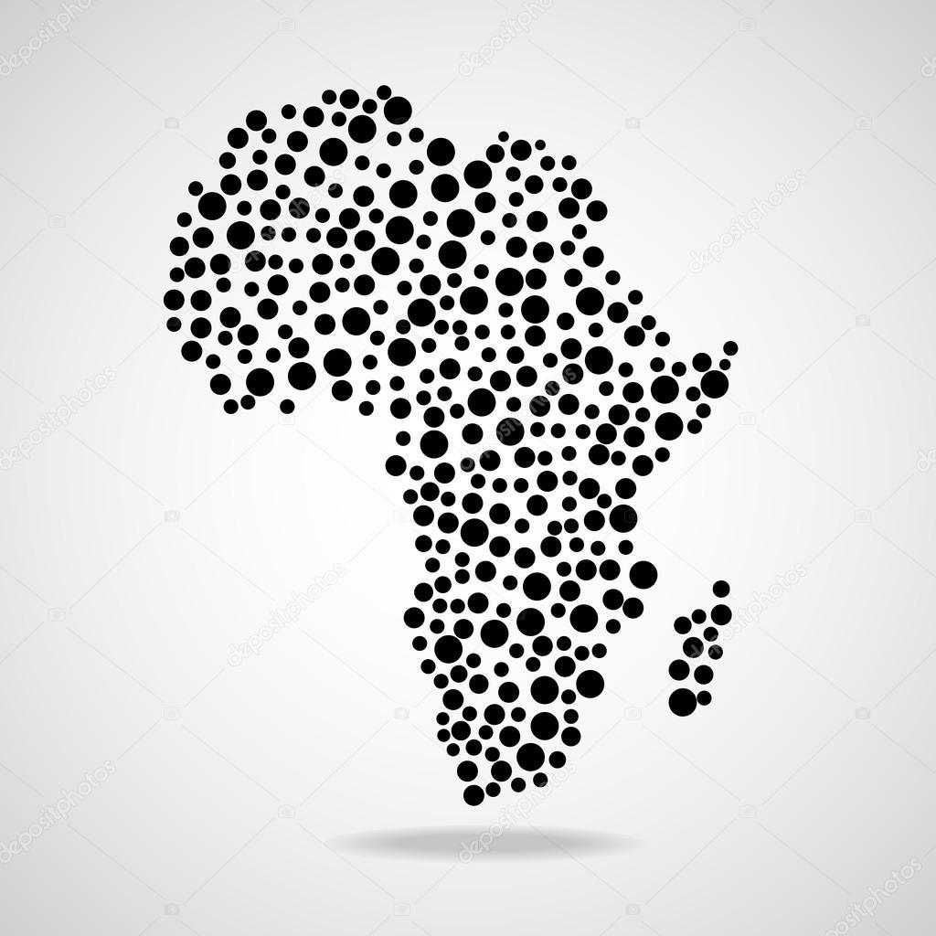 抽象的非洲地图.矢量图.eps