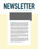 Page layout newsletter for use with business or nonprofit — Stok Vektör