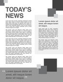Page layout newsletter for use with business or nonprofit — Vecteur