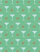 Olive and martini pattern — Stockvektor